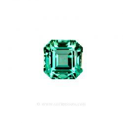 Colombian Emeralds, Emerald Cut, Asscher cut Emeralds set in 18k White Gold - leewasson.com - 10031