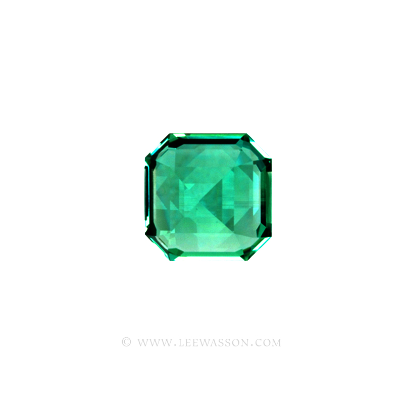 Colombian Emeralds, Asscher cut Emeralds, Natural Loose Colombian Emeralds - leewasson.com - 10031 - 3