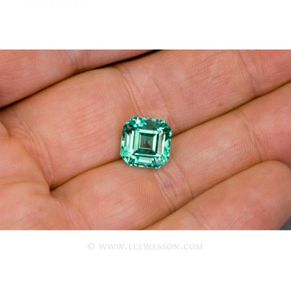 Colombian Emeralds, Asscher cut Emeralds, Natural Loose Colombian Emeralds - leewasson.com - 10031 - 4