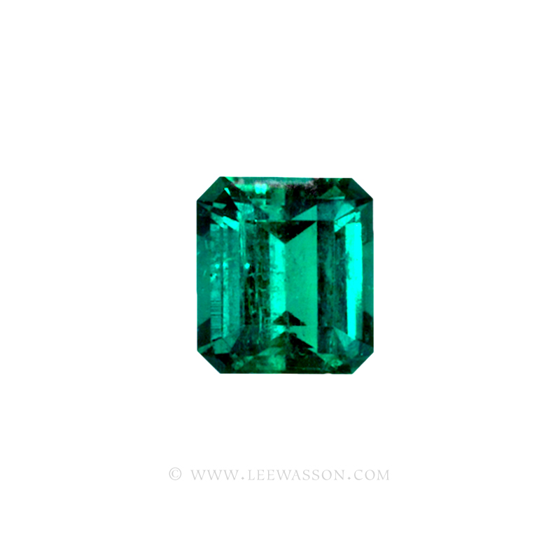 Colombian Emeralds, Emerald Cut natural Emeralds in18k Gold Jewelry. - 10033 - 1
