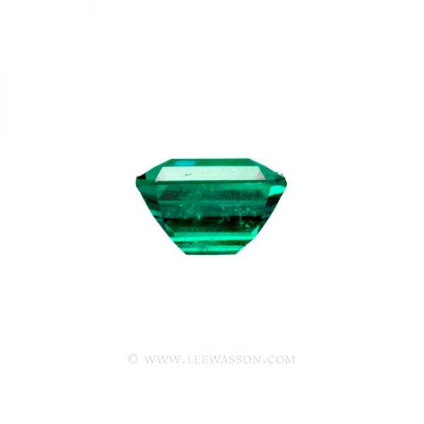 Colombian Emeralds, Emerald Cut Emeralds set in 18k White Gold - leewasson.com - 2 - 10033