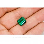 Colombian Emeralds, Emerald Cut natural Emeralds in18k Gold Jewelry. - 10033 - 5