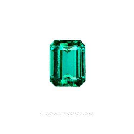Colombian Emeralds, Emerald Cut Emeralds and Gorgeous Emerald Jewelry set in 18k White Gold - leewasson.com - 10036 - 1