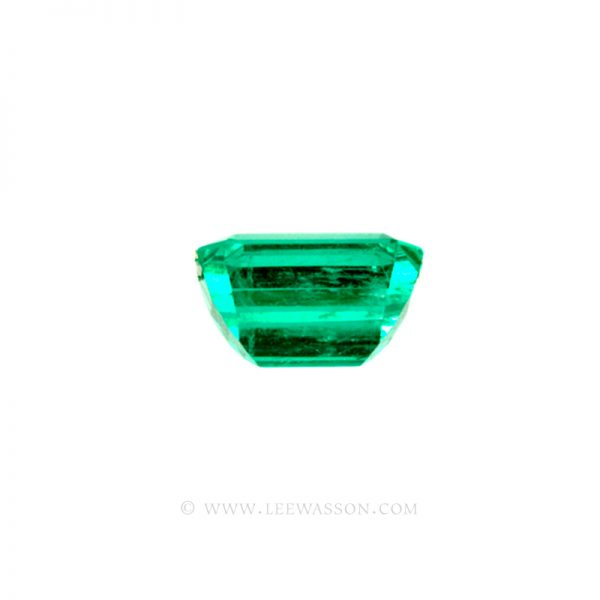 Colombian Emeralds, Emerald Cut Emeralds and Gorgeous Emerald Jewelry set in 18k White Gold - leewasson.com - 10036 - 2