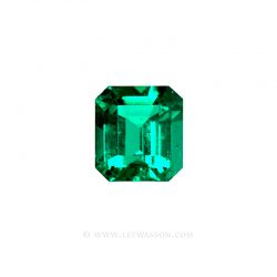 Colombian Emeralds, Emerald Cut Emeralds and set in 18k White Gold - leewasson.com - 1004