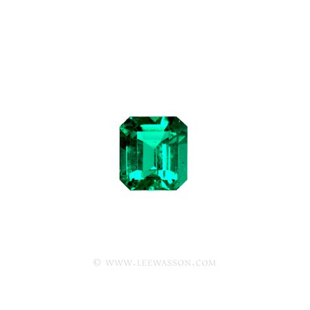 Colombian Emeralds, Emerald Cut Emeralds, Square cut Emeralds. leewasson.com - 1004 - 1