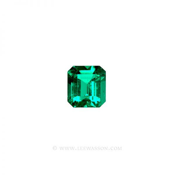 Colombian Emeralds, Square Cut, Asscher Cut, Emerald Cut. leewasson.com -1004 - 1