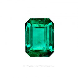 Colombian Emeralds, Emerald Cut Emeralds and set in 18k White Gold - leewasson.com - 10048