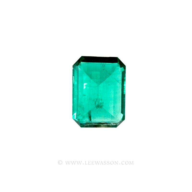 Colombian Emeralds, Emerald Cut Emeralds & 18k Gold Emeralds Jewelry. leewasson.com - 10048 - 4