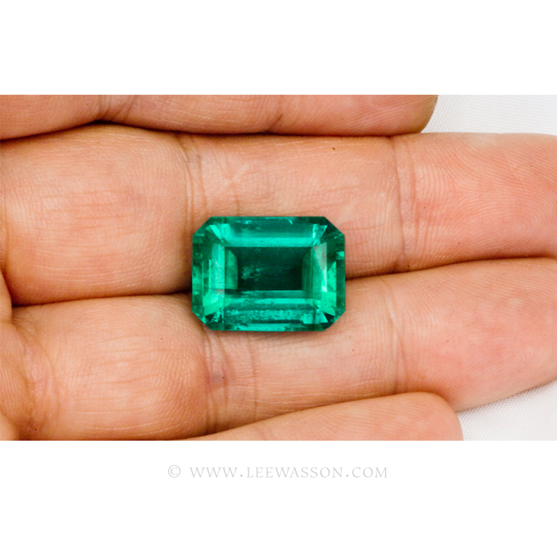 Colombian Emeralds, Emerald Cut Emeralds & 18k Gold Emeralds Jewelry. leewasson.com - 10048 - 5