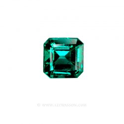 Colombian Emeralds, Emerald Cut Emeralds and set in 18k White Gold - leewasson.com - 1008