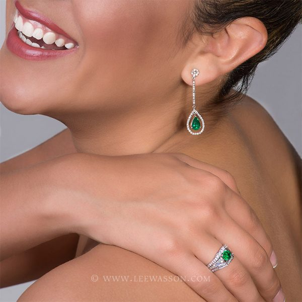 [:en]Lee Wasson´s 19555 White Gold Earring[:es]Lee Wasson 19555 Arete Oro Blanco Anillo Oro Blanco