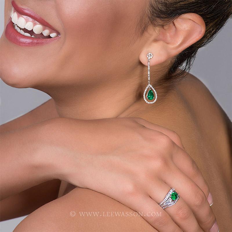 [:en]Lee Wasson´s 19555 White Gold Earring[:es]Lee Wasson 19555 Arete Oro Blanco Anillo Oro Blanco