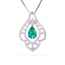 Colombian Emerald Pendant 19603