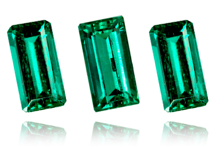 Colombian Emerald, Baguette, Emerald cut, Loose
