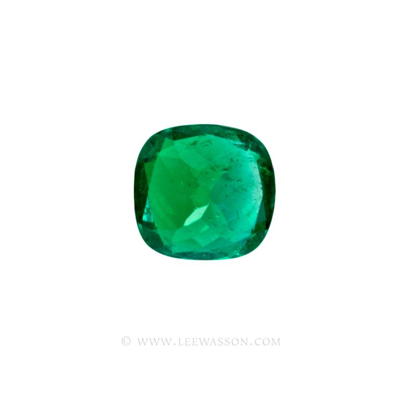 Colombian Emeralds, Cushion Cut Emeralds and set in 18k White Gold - leewasson.com - 10041 - 5