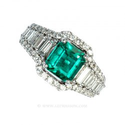 Colombian Emerald Ring 19610