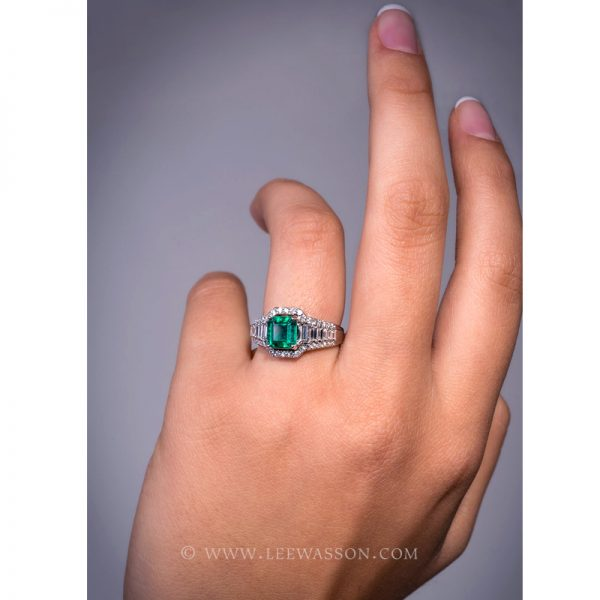 [:en]Lee Wasson´s 19610 Colombian Emerald White Gold Ring[:es]Lee Wasson 19610 Anillo Esmeralda Colombiana Oro Blanco