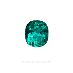 Colombian Emeralds, Cushion Cut Emeralds, set in 18k White Gold - leewasson.com - 10061