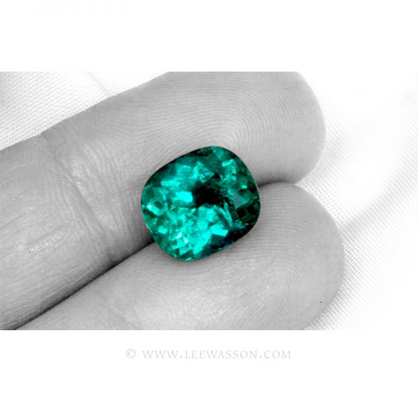 Colombian Emeralds, Cushion cut Emeralds, leewasson.com - 3 - 10061