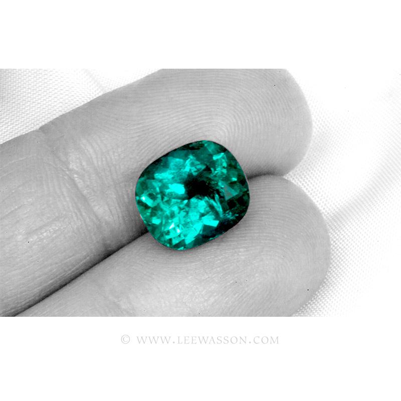 Colombian Emeralds, Cushion cut Emeralds, leewasson.com - 3 - 10061