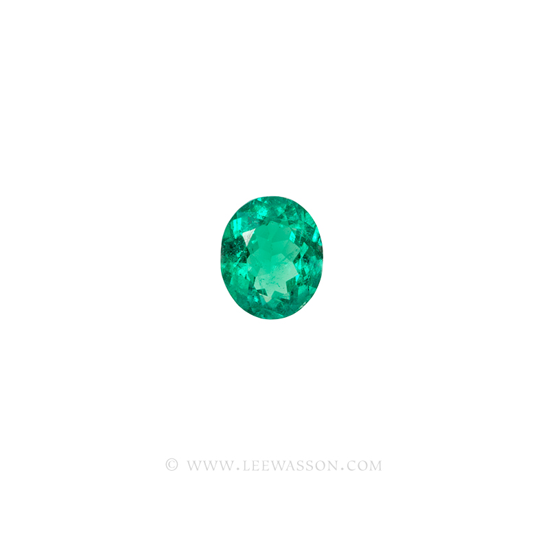 Colombian Emeralds, Oval Cut Emeralds. leewasson.com - 1- 10060
