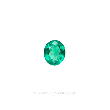 Colombian Emeralds, Oval Cut Emeralds. leewasson.com - 2- 10060