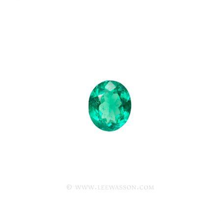 Colombian Emeralds, Oval Cut Emeralds. leewasson.com - 2- 10060