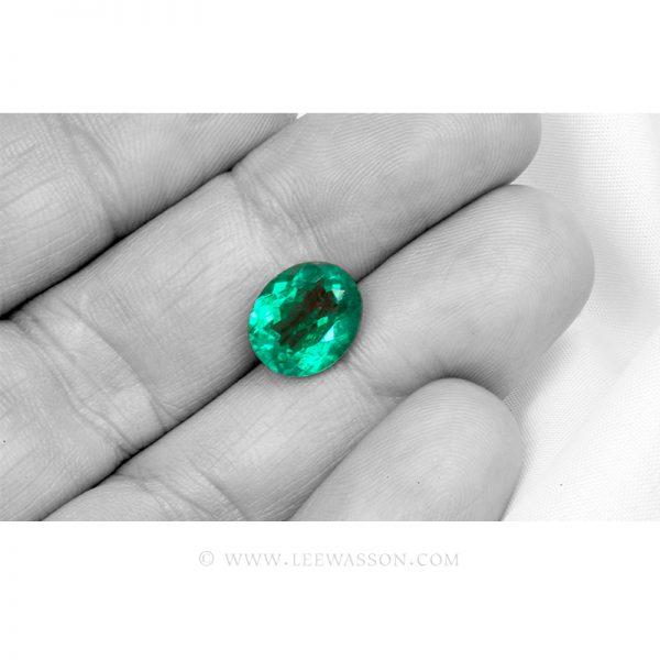 Colombian Emeralds, Oval Cut Emeralds. leewasson.com - 4- 10060