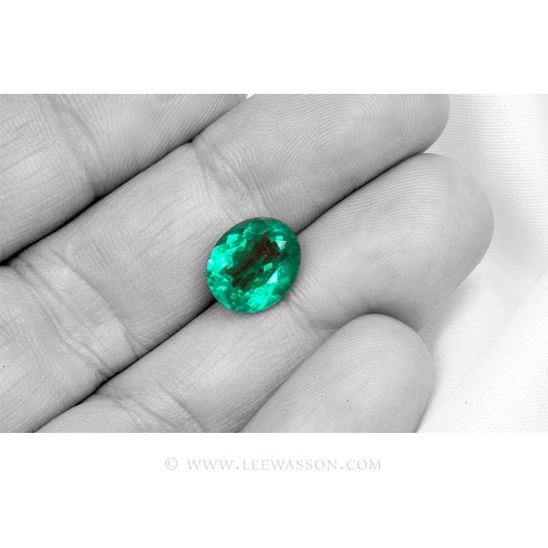 Colombian Emeralds, Oval Cut Emeralds. leewasson.com - 4- 10060