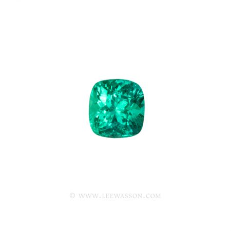 Colombian Emeralds, Cushion Cut Emeralds - leewasson.com - 1 - 10059