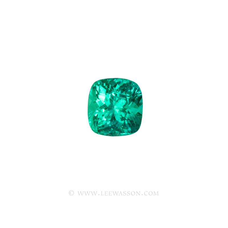 Colombian Emeralds, Cushion Cut Emeralds - leewasson.com - 10059 -1