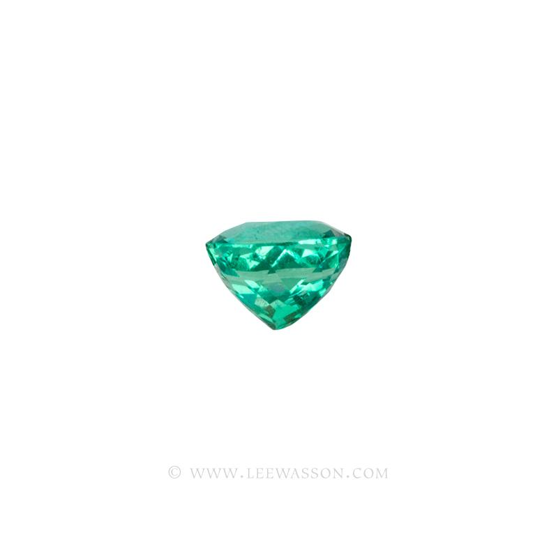 Colombian Emeralds, Cushion Cut Emeralds - leewasson.com - 10059 - 3