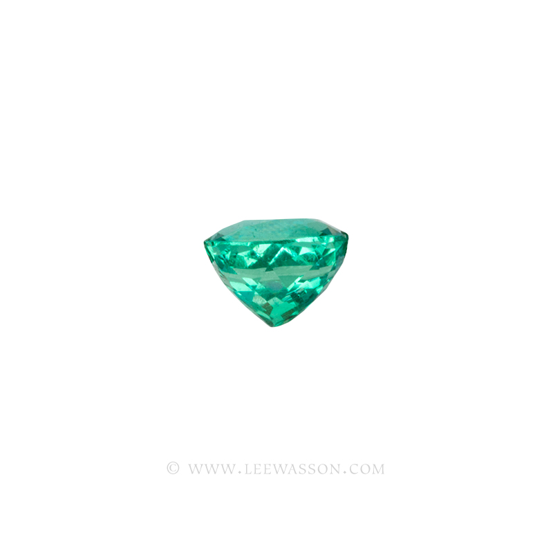 Colombian Emeralds, Cushion Cut Emeralds - leewasson.com - 2 - side view - 10059