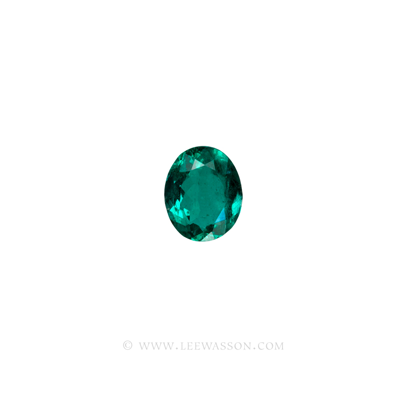 Colombian Emeralds, Oval Cut Emeralds. leewasson.com - 1- 10058