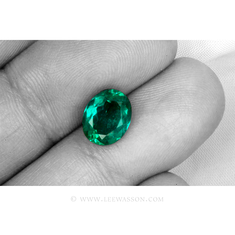Colombian Emeralds, Oval Cut Emeralds. leewasson.com - 4- 10058
