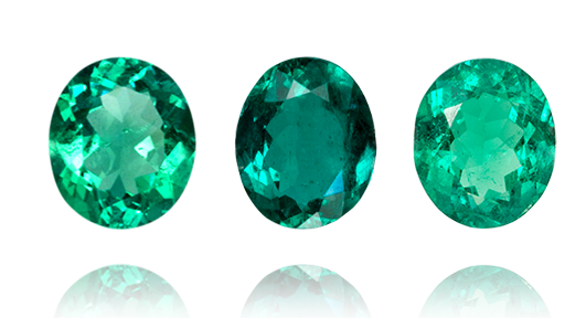Oval Shape Emeralds Loose Colombian Emeralds Can Be Set