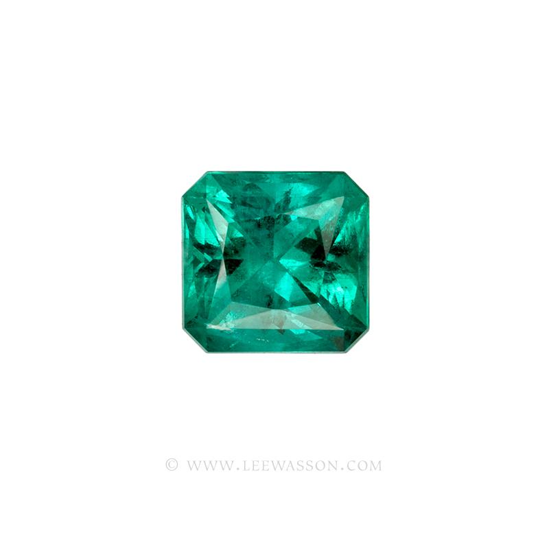 Colombian Emeralds Princess Cut Emeralds. leewasson.com - 10062 - 1