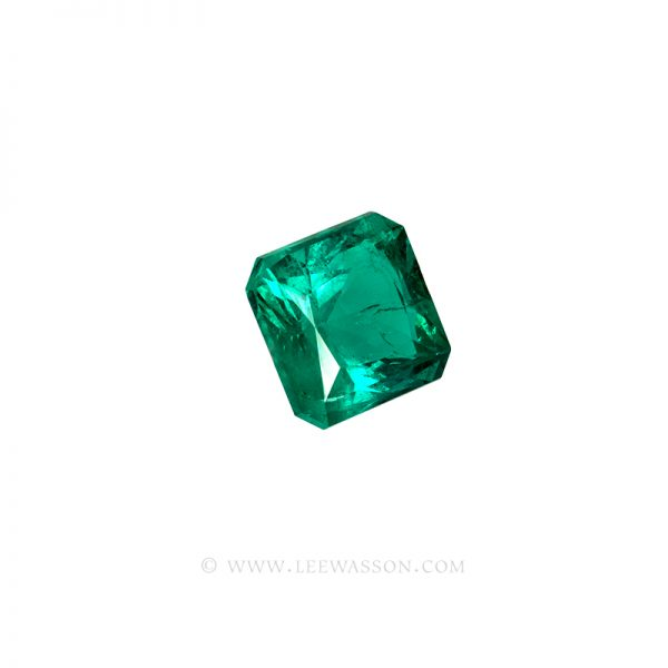 Colombian Emeralds Princess Cut Emeralds. leewasson.com - 10062 - 2