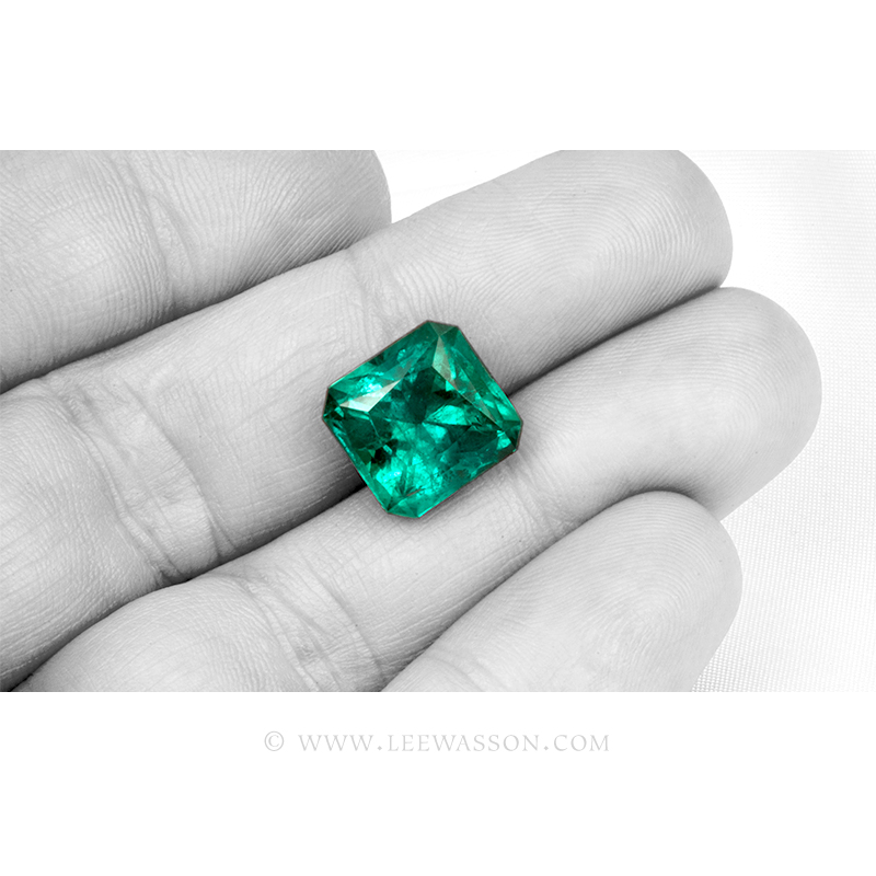 Colombian Emeralds, Princess cut Emeralds - 4 - leewasson.com - 10062