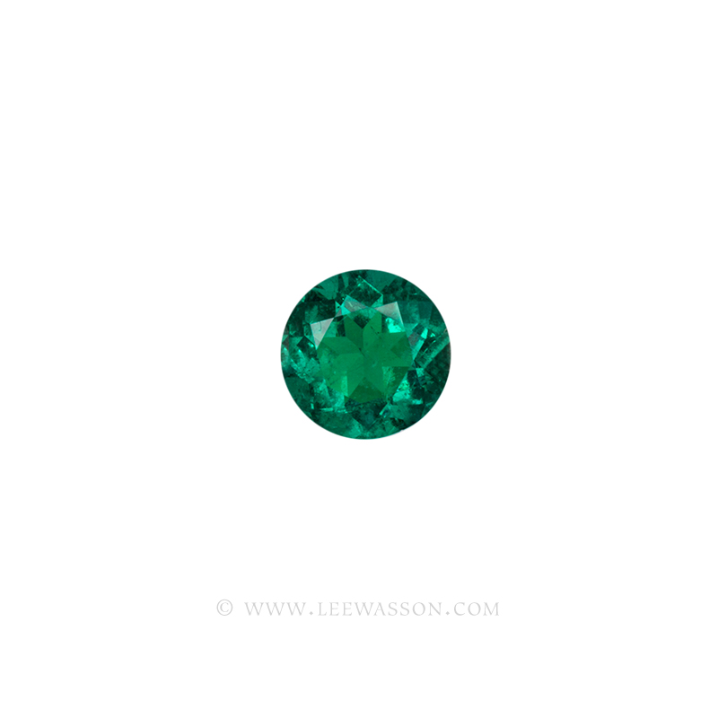 Colombian Emeralds, Round Brilliant Cut Emeralds, Approx. 2.30 Carat. leewasson.com 10057 - 1