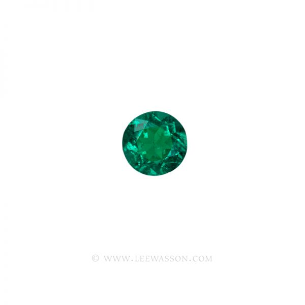 Colombian Emeralds, Round Brilliant Cut Emeralds, Approx. 2.30 Carat. leewasson.com 10057 - 2