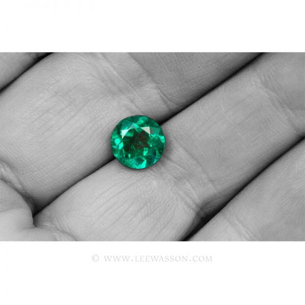 Colombian Emeralds, Round Brilliant Cut Emeralds, Approx. 2.30 Carat. leewasson.com 10057 - 3