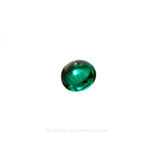 Colombian Emeralds, Cabochon Cut Emerald. leewasson.com -10066 -1