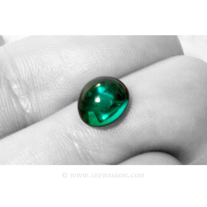 Colombian Emeralds, Cabochon Cut Emeralds - leewasson.com - 10066 -3