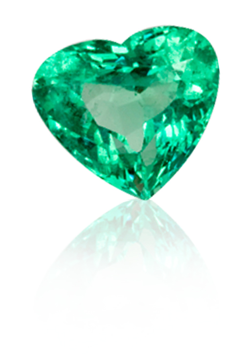 image portfolio emerald earrings shaped view heart