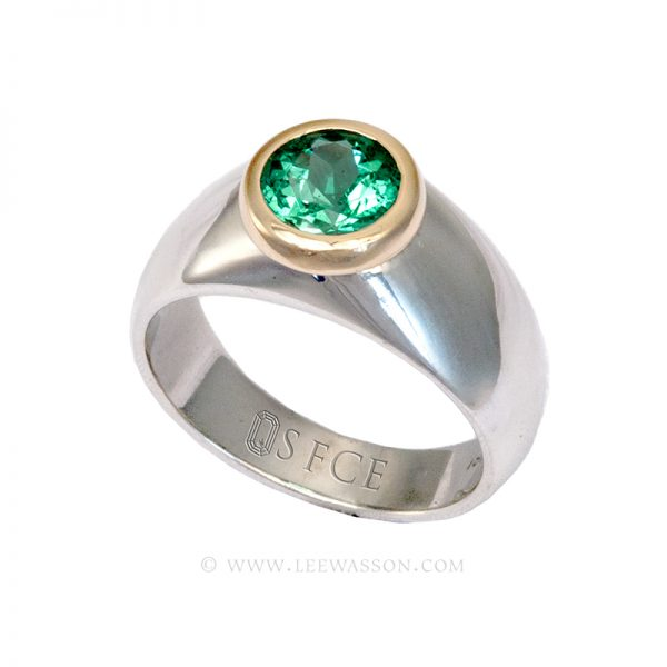 Colombian Emerald Ring, Oval cut Emeralds Engagement Rings, 18k Yellow Gold 19623