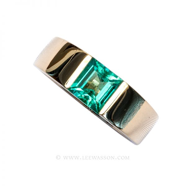 Colombian Emerald Ring, Emerald Engagement Ring, 18k Yellow Gold