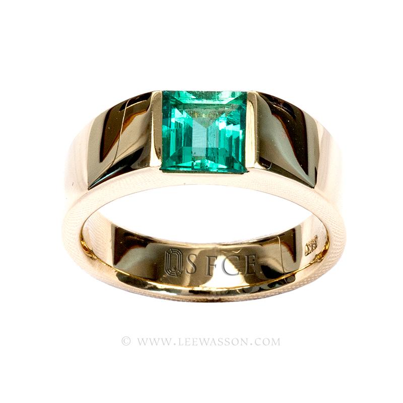 Square Emerald Cut Diamond Ring