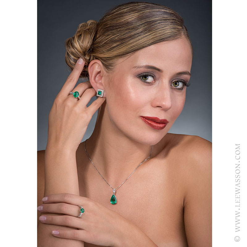 Natural Emerald Rings & Earrings, Delicately Handcrafted by Our Master Jewelers. leewasson.com 19639 - 7